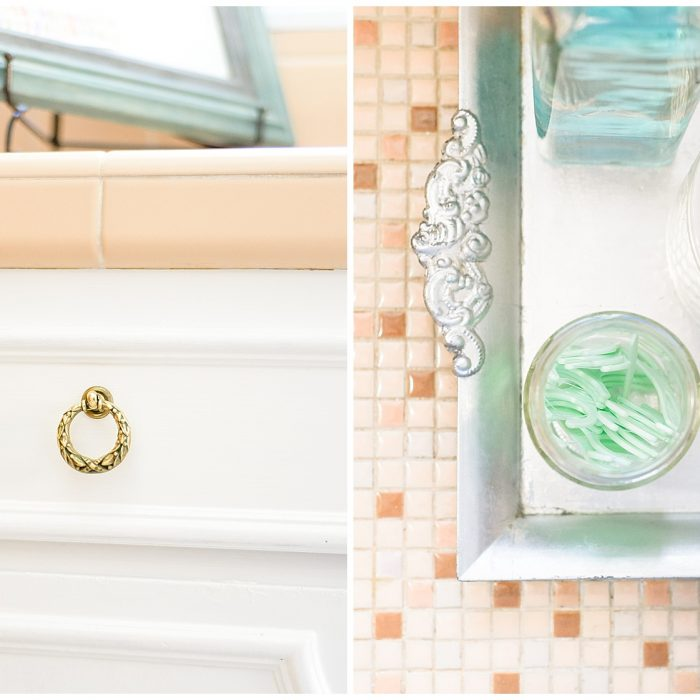 Weekend Makeover | White Bathroom and Closet Remodel